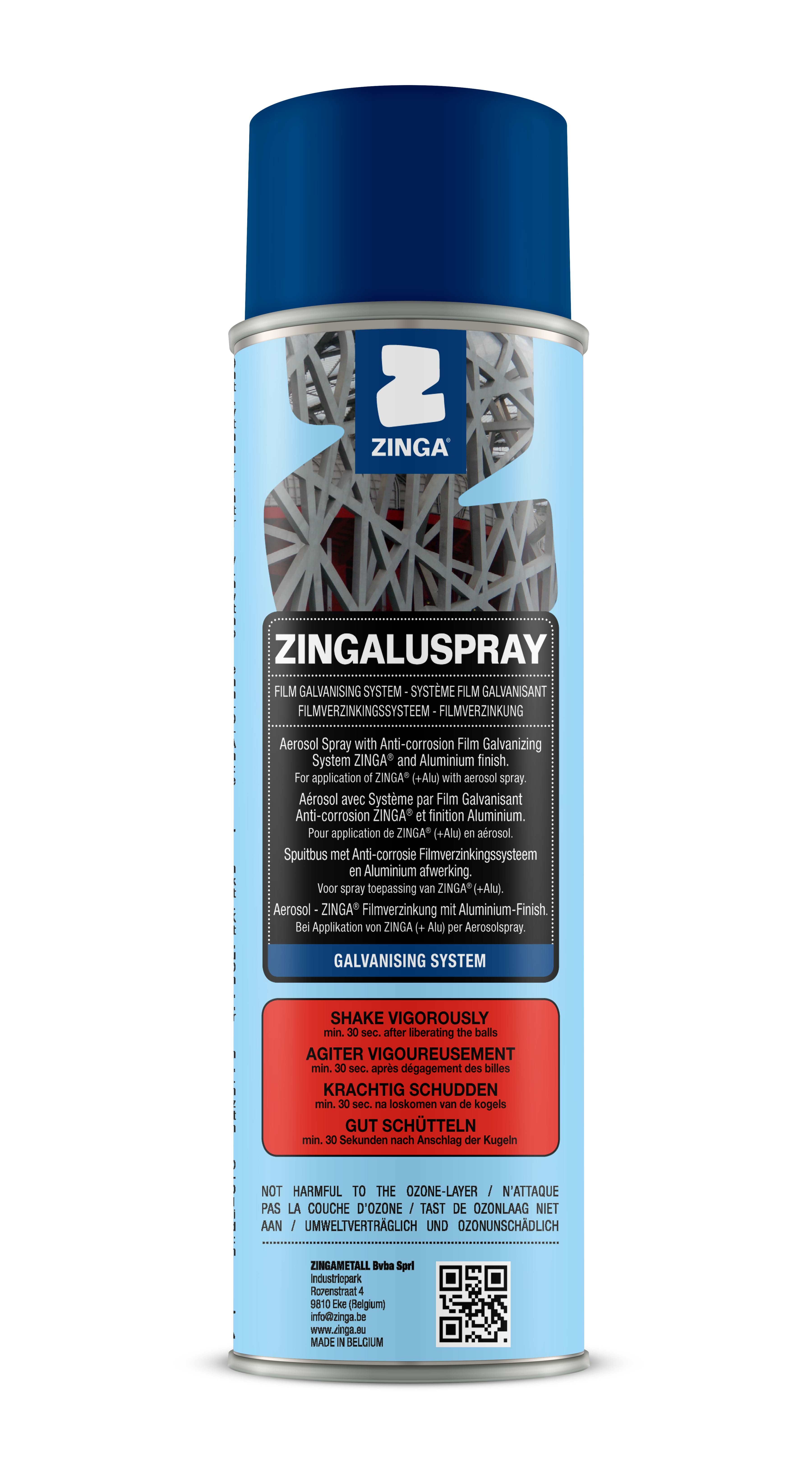 A can of Zingalu Spray
